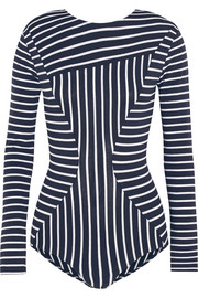 Bom striped stretch-cotton jersey bodysuit