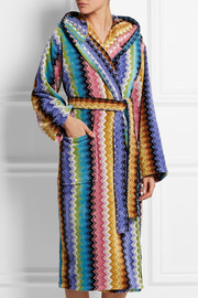 Ralph zigzag cotton-terry robe