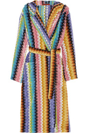 Missoni Home Ralph zigzag cotton-terry robe