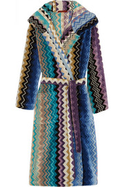 Missoni Home Giacomo zigzag cotton-terry robe