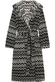 Keith zigzag cotton-terry robe