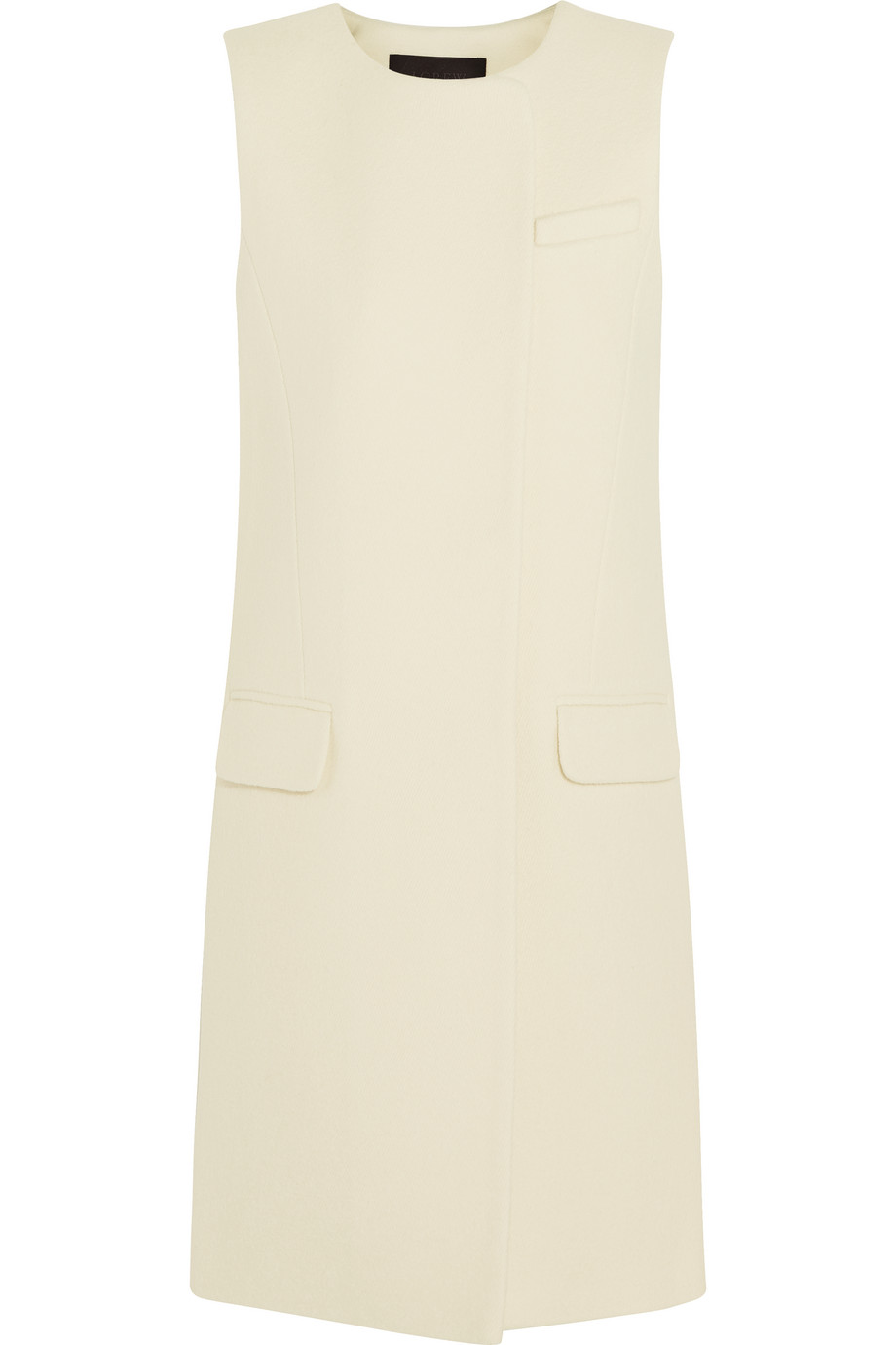 J.Crew Collection Cora Boiled Wool Gilet, Ivory, Women's, Size: 6