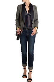 J.Crew Collection satin-trimmed wool-tweed blazer