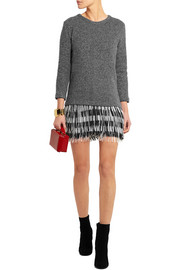 Fringed knitted sweater dress