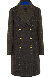 J.Crew Adie crystal-embellished wool-tweed coat