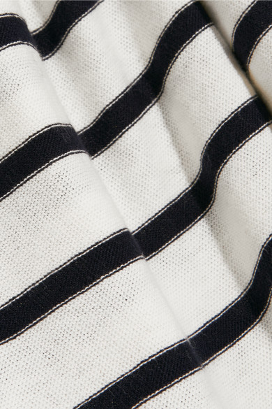 J Crew   Striped cotton jersey top   NET A PORTER COM Zoom In