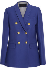 J.Crew Irene wool and silk-blend faille blazer