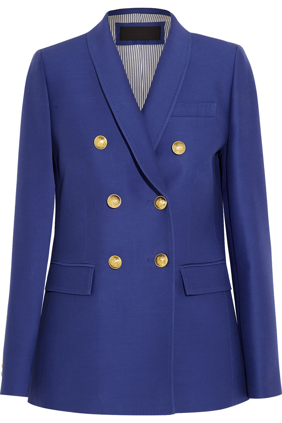 J.Crew Irene Wool and Silk-Blend Faille Blazer, Royal Blue, Women's, Size: 12