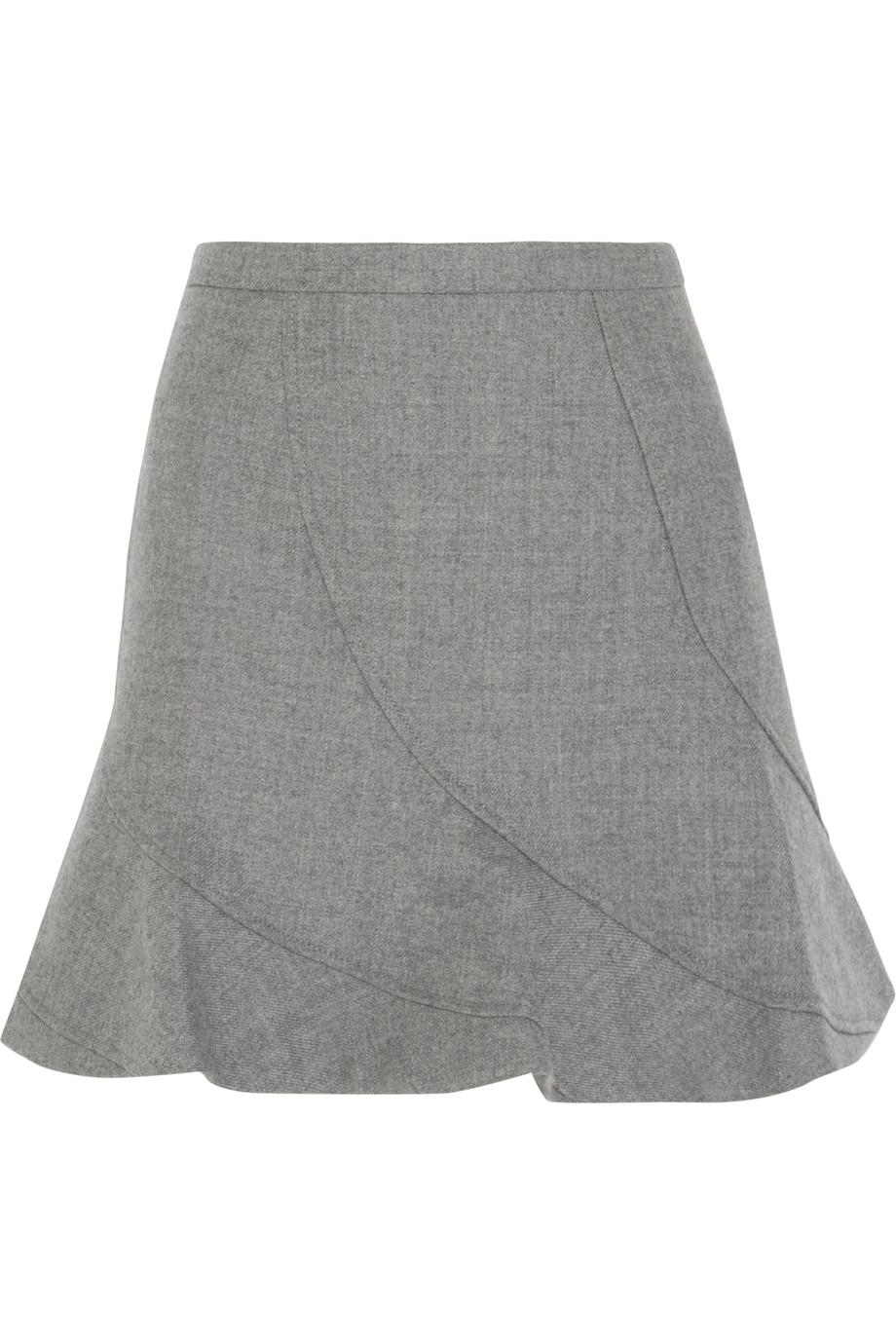 J.Crew Flared Wool Mini Skirt, Light Gray, Women's, Size: 6