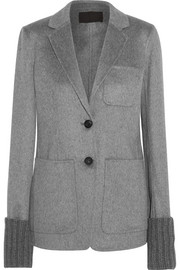 Lois ribbed knit-trimmed cashmere blazer