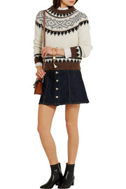 Hudson intarsia knitted sweater