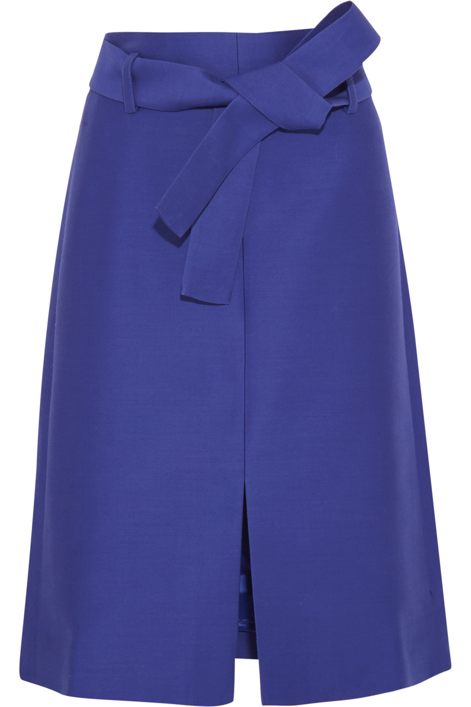 J.Crew Collection Wool and Silk-Blend Faille Skirt, Royal Blue, Women's, Size: 6