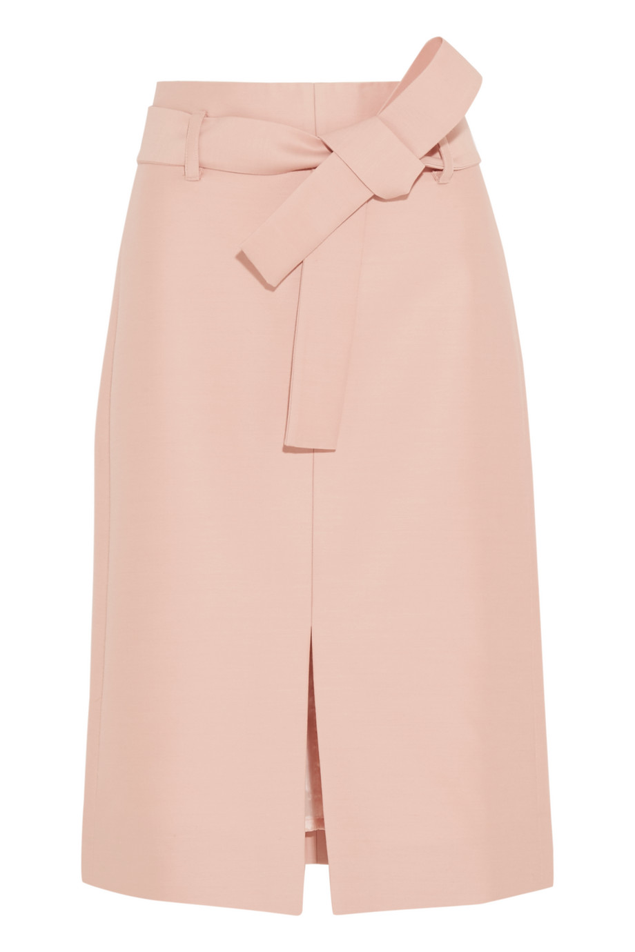 J.Crew Collection Leslie Wool and Silk-Blend Faille Skirt, Blush, Women's, Size: 6