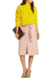 Collection Leslie wool and silk-blend faille skirt