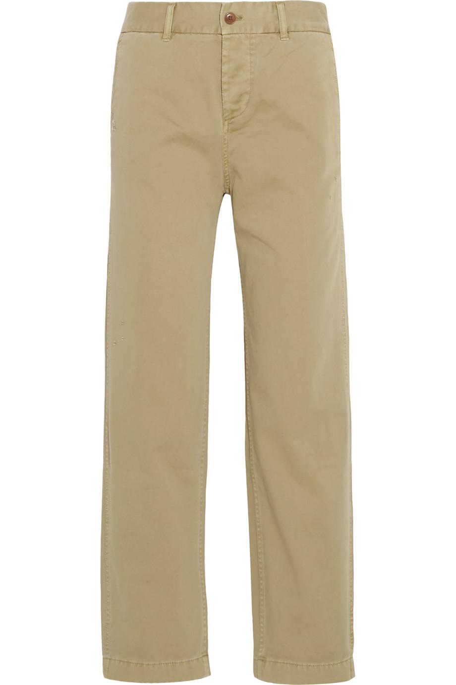 J.Crew Cotton-Twill Straight-Leg Pants, Camel, Women's, Size: 6
