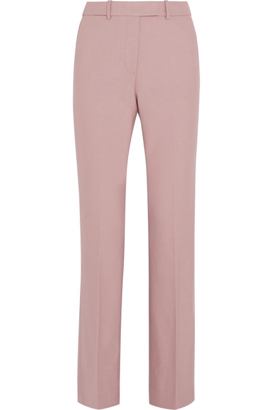 J.Crew Preston Stretch Wool-Blend Flared Pants, Antique Rose, Women's, Size: 10