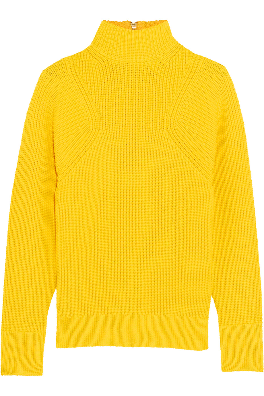 J.Crew Howden Knitted Turtleneck Sweater, Yellow, Women's