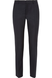 Kong wool-twill slim-leg pants