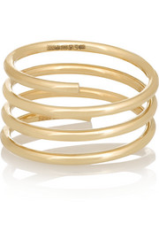 Pirouette Elsa 14-karat gold diamond phalanx ring