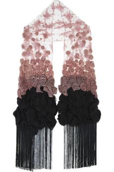 Valentino|Fringed lace scarf|NET-A-PORTER.COM from net-a-porter.com