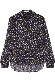 See by Chloé Forget Me Knot printed georgette blouse