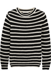 Shelton striped knitted sweater