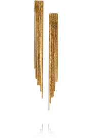 Erickson Beamon Velvet Underground gold-plated Swarovski crystal earrings