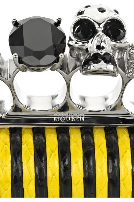 Alexander McQueen|Long Skull whipsnake clutch|NET-A-PORTER.COM from net-a-porter.com