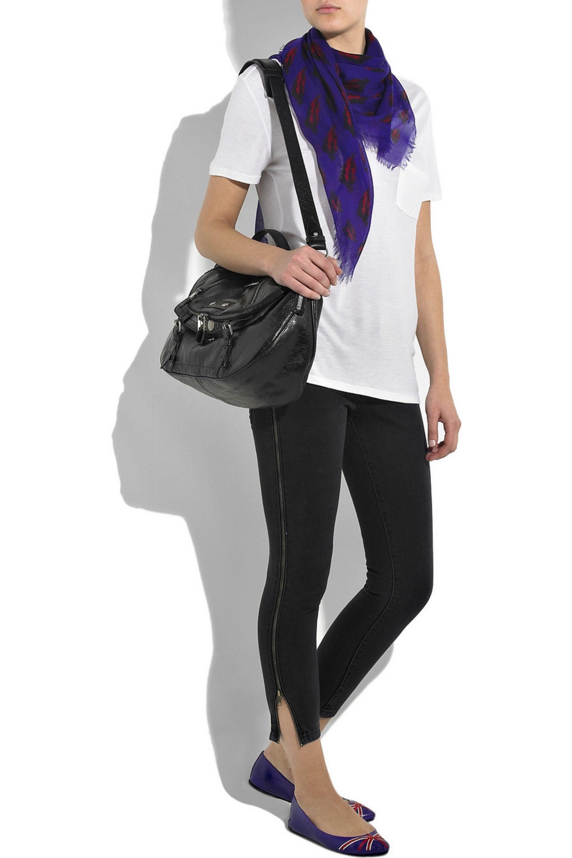 Alexander McQueen Cashmere-blend lip-print scarf