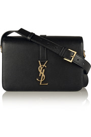 Saint Laurent Monogramme Sac Université medium textured-leather shoulder bag