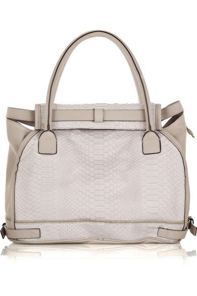 Marlow large python and leather bag