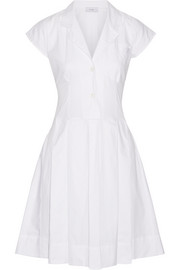 Townhall pleated cotton-twill dress