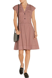 Townhall printed pleated cotton-twill dress