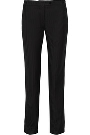 Donna herringbone woven tapered pants