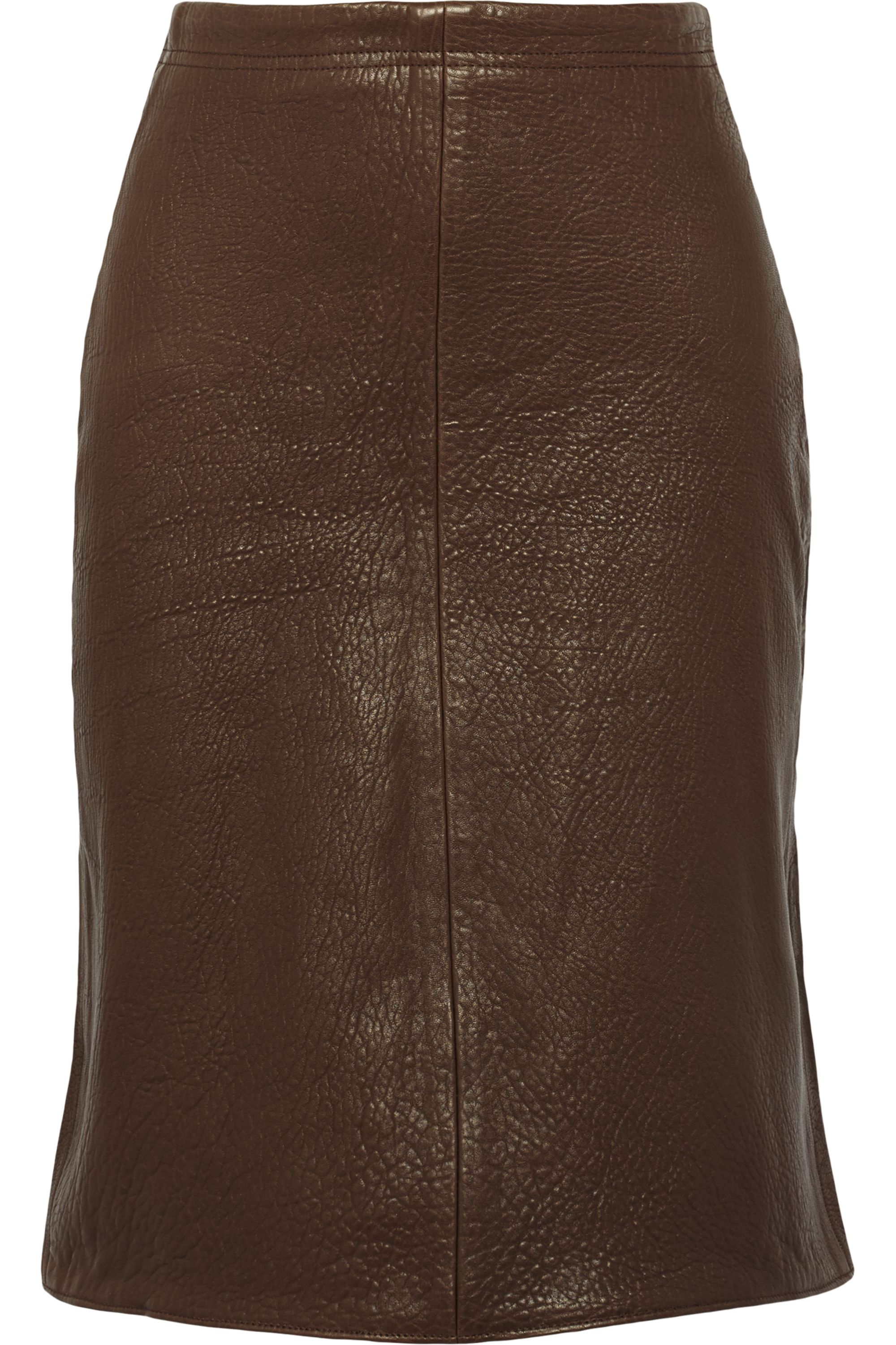 TITLE A Textured-leather skirt