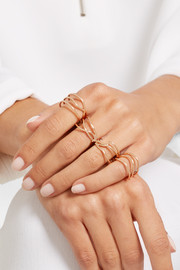 18-karat rose gold four-finger ring