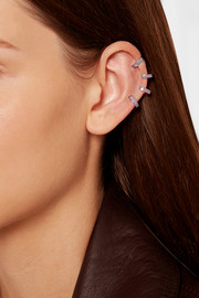 Berbère lilac rhodium-plated 18-karat gold ear cuff