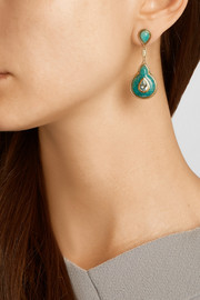 Fluid Droplet 18-karat gold multi-stone earrings