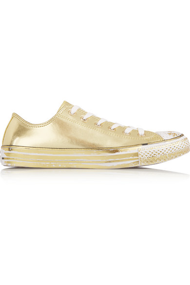 5c1d4c865575 Converse. Chuck Taylor All Star Chrome metallic leather sneakers