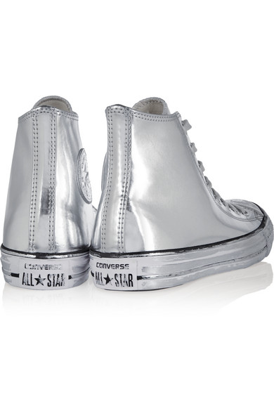 44391ff05c6285 Converse. Chuck Taylor All Star Chrome metallic leather high-top sneakers.   50. Zoom In