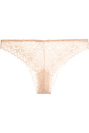 Miel stretch-lace briefs