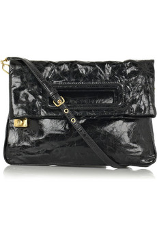 Miu Miu | Oversized glazed-leather clutch | NET-A-PORTER.COM from net-a-porter.com