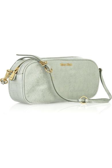 2388a4904dd3 Miu Miu. Crocodile-print leather bag