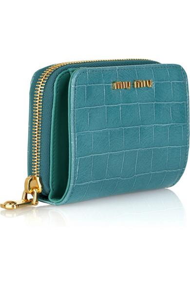 06f2d7339be5 Miu Miu. Crocodile-print leather wallet