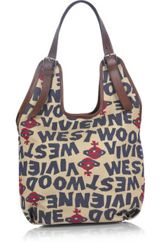 Vivienne Westwood Stoneage canvas hobo bag