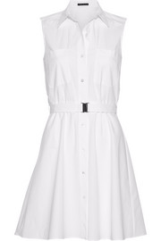 Theory Davah cotton-poplin mini shirt dress