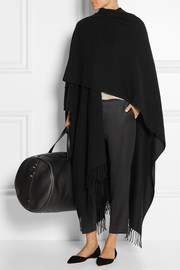 The Row Rina fringed cashmere cape