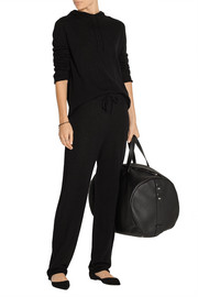 The Row Pepita & Dina cashmere and silk-blend track pant and hooded top set