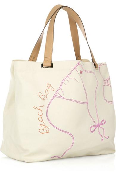 Anya Hindmarch | Beach Bag canvas tote | NET-A-PORTER.COM
