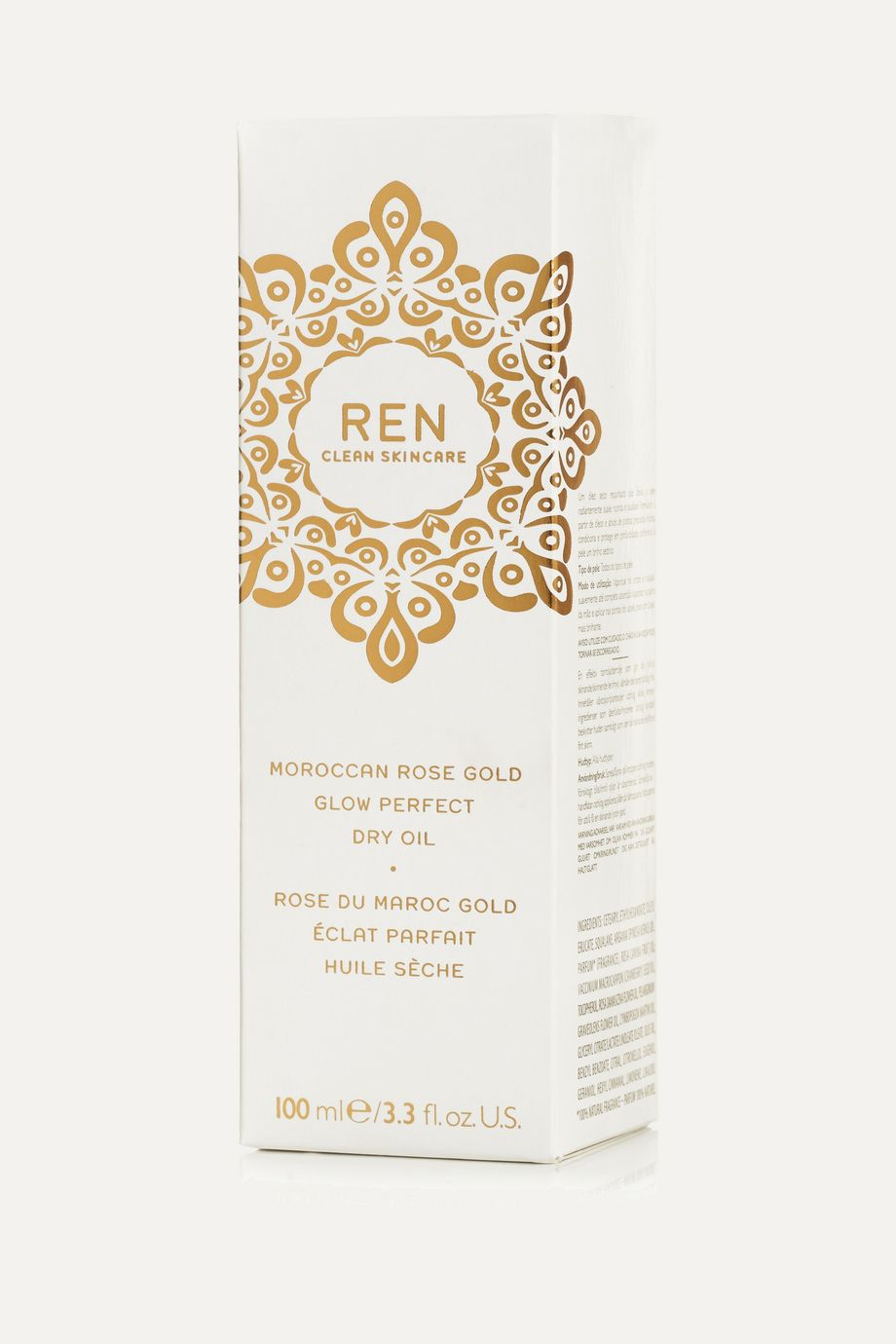 REN Clean Skincare Moroccan Rose Gold Glow Perfect Dry Oil, 100ml